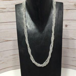 Silver multi strand necklace Marvella